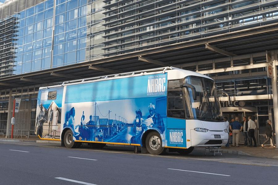 NHBRC mobile unit outside the CTICC building